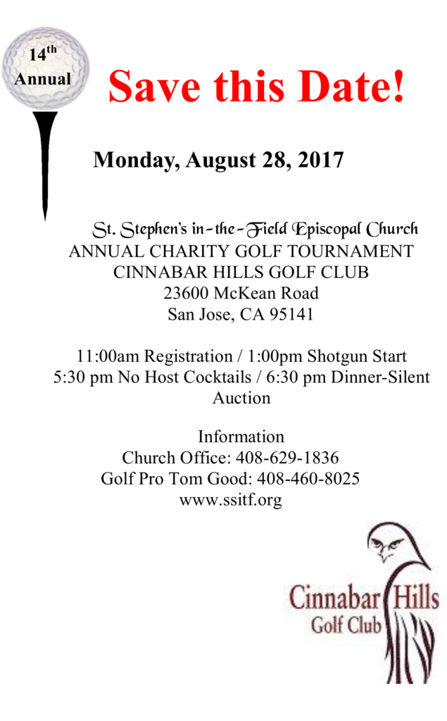 14th Annual Charity Golf Tournament & Dinner - St  Stephens in-the